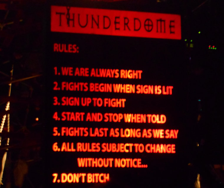 Thunder Dome sign 2013