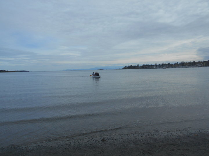 canoe at Gyro Park - Cadboro Bay