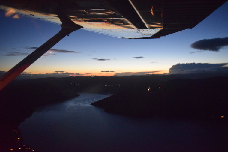night flight over Victoria
