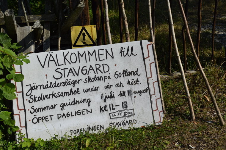 Stavgard sign in southeast Gotland