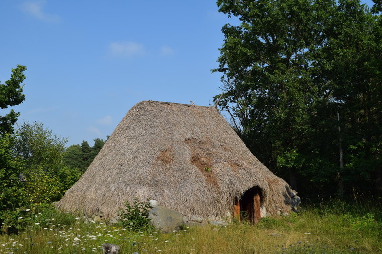 Viking building at Stavgard on Gotland