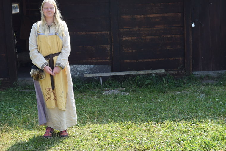 Viking costume at Stavgard on Gotland