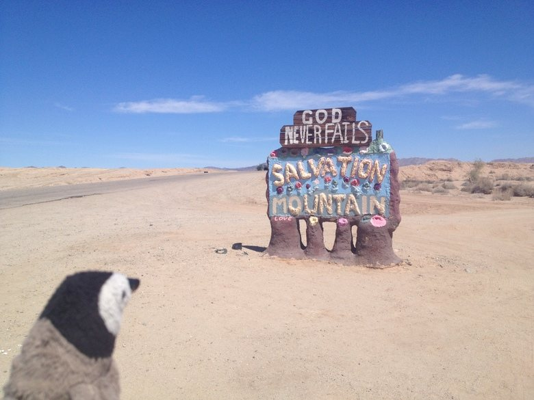 Salvation Mountain sign