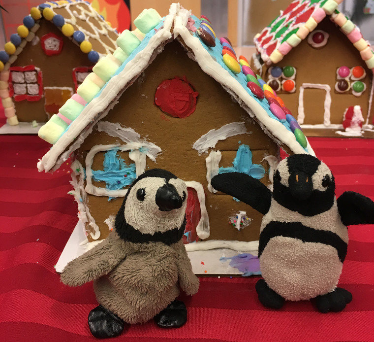 Penguins & Gingerbread House